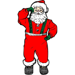Dancing Santa Vector Art