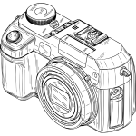 Photo camera vector graphics