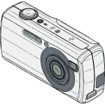 Digital camera vector drawing