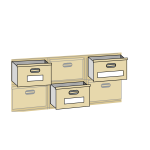 File cabinet drawers vector illustration