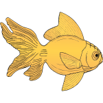 Generic orange fish vector illustration