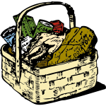 Food basket vector