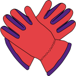 Gloves vector image