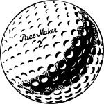 Golf ball vector graphics