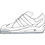 Gym shoe vector drawing