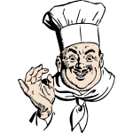 Happy chef vector graphics