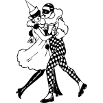 Couple dancing vector clip art