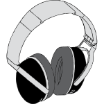 Headphone vector graphics
