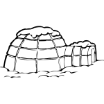 Igloo vector graphics