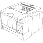Vector graphics of laser printer