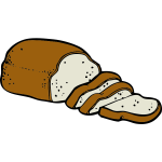 Color graphics of loaf of bread vector clip art