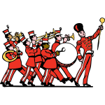 Marching band vector clip art