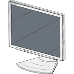PC monitor vector drawing