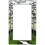 Vector graphics of mountain themed frame