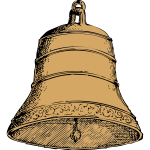 Old bell vector image