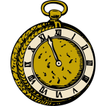 Old pocket watch vector illustration