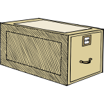 Vector image of a drawer