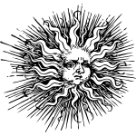 Ornamented sun vector illustration