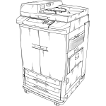 Vector clip art of photocopier