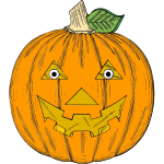 Fresh Halloween pumpkin vector clip art