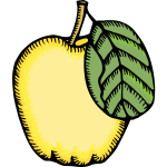Vector image of quince