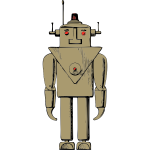 Electric robot vector drawing