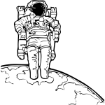 Spacewalk vector illustration