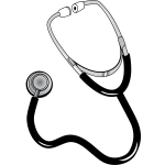 Vector image of an auscultation device
