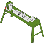 Wood lathe vector drawing