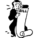 Man worried about the bill vector