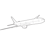 Boeing 777 vector image