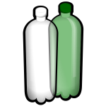 Two water bottles vector image