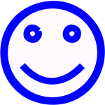 Blue smiley face vector image