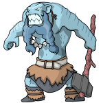 Blue scary giant