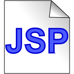 JSP page icon vector image
