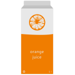 Vector graphics of juice in box