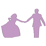 Just married silhouette vector image