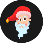Santa's Head Vector graphics