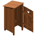 Wood latrine open vector image