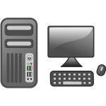Vector illustration of computer workstation