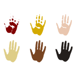 Hand prints in different colors vector illustration