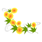 Yellow flowers and green leaves vector image