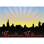 Marvellous Melbourne skyline background vector image