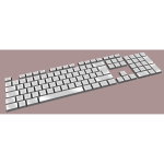 Simple keyboard on color background vector illustration