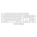 Vector image of full PC keyboard template for defining key mappings