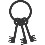 Keys on a ring silhouette vector image