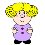 Blond cartoon girl