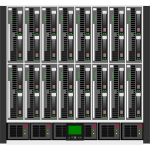 HP C7000 data center vector image
