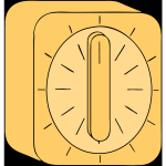 Yellow kitchen timer