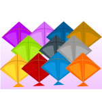 Vector drawing of kites